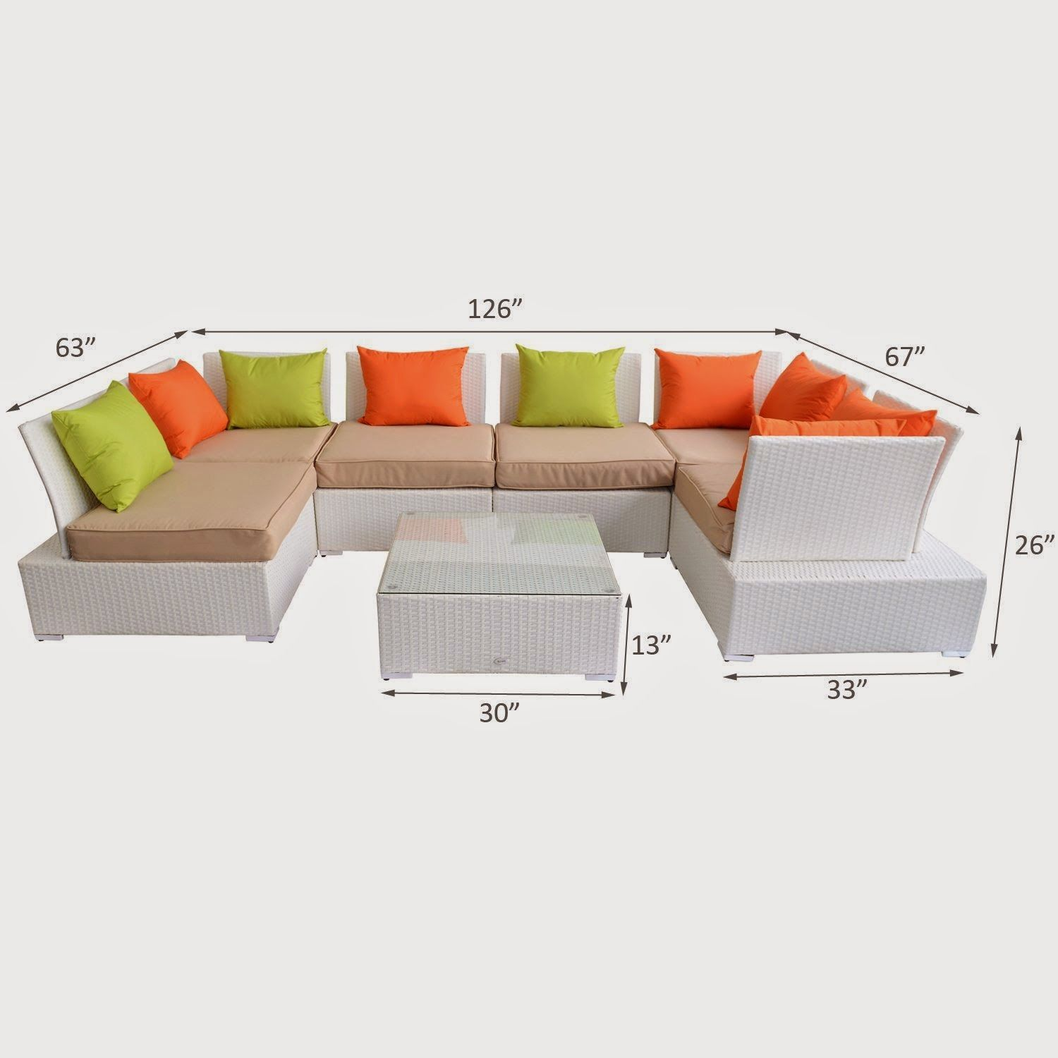 Discount Until 62% Outsunny Outdoor 7pc PE Rattan Wicker Sectional