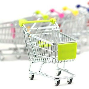 Novelty Mini Supermarket Handcart Shopping Utility Cart Trolley, Cute Mobile Phone Holder, Baby Toy Gift