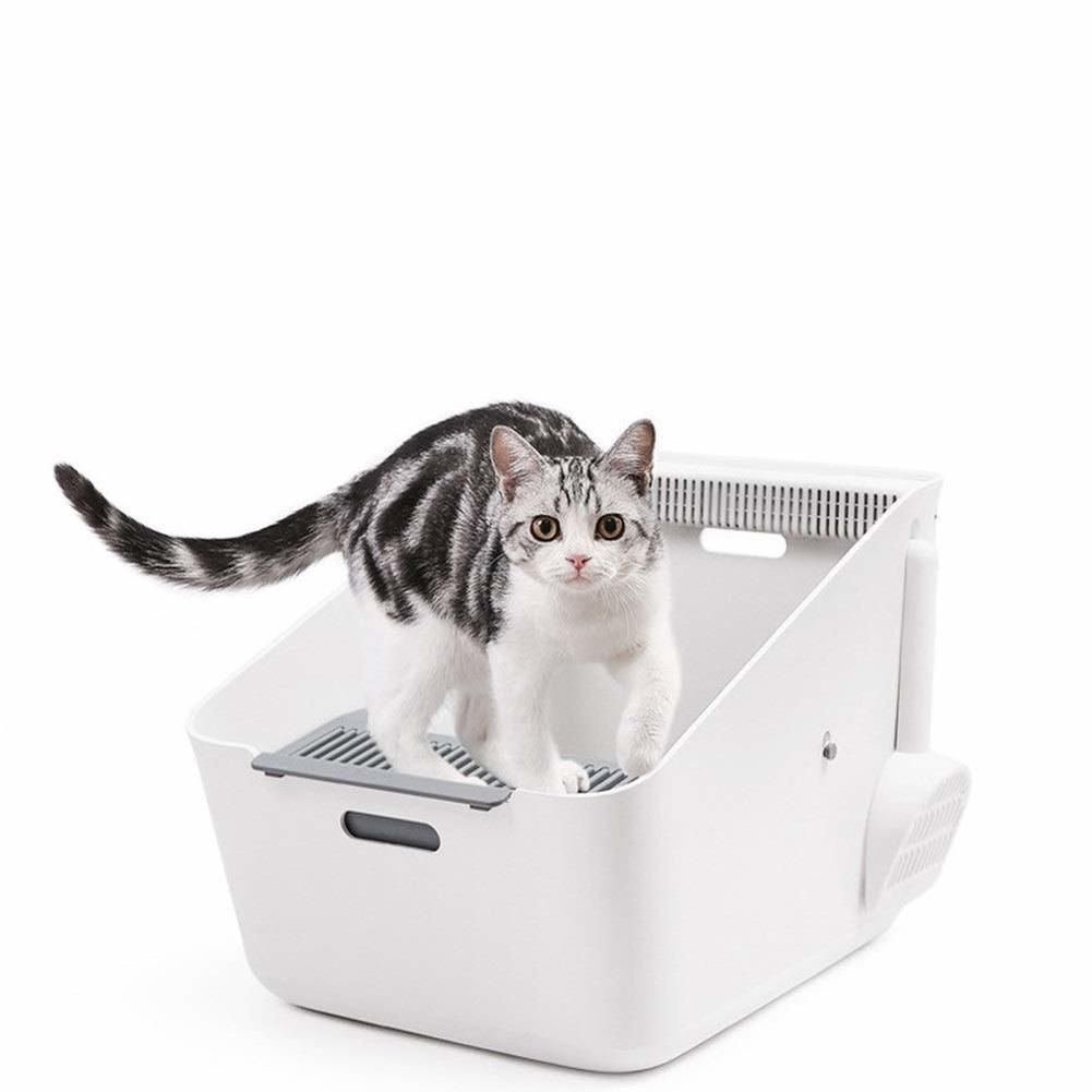 Automatic Litter Boxes Smart Cat Toilet Smart Taste Double Anti Sand Induction In 2020 Cat Toilet Automatic Litter Box Litter Box