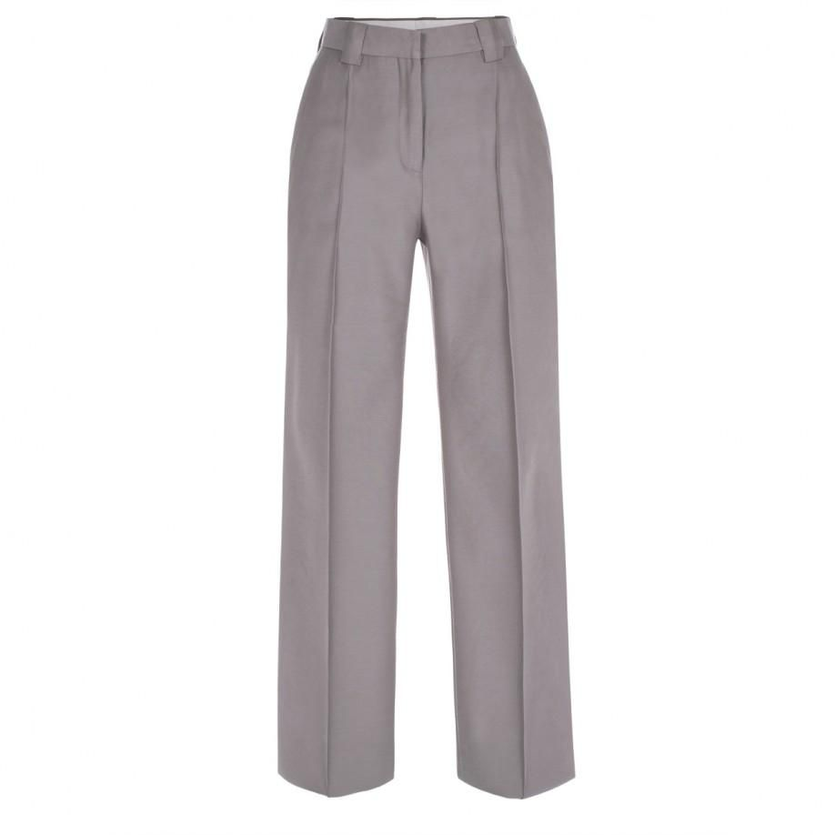 Women's Grey Wool Skinny Pants from
