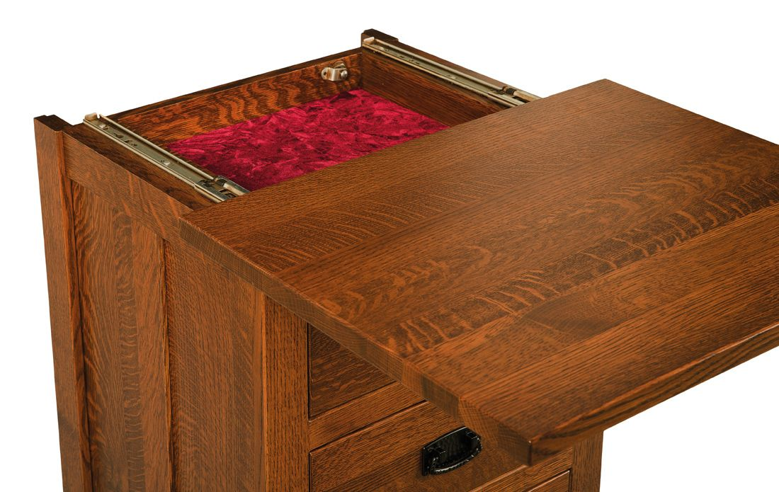 Three Drawer Nightstand With Sliding Secret Compartment Secret