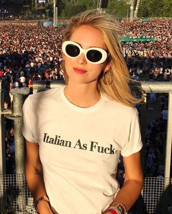 Italian AF White T-Shirt