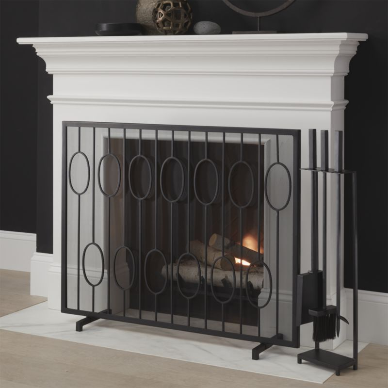 Shop Links Black Fireplace Screen Updating A Vintage Staircase