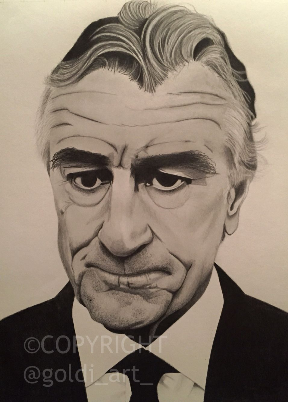 DeNiro Graphite on Artec stock 210gsm Faber Castell 9000 series B, 2B, 5B Available for sale..please contact me via P/Msg for details