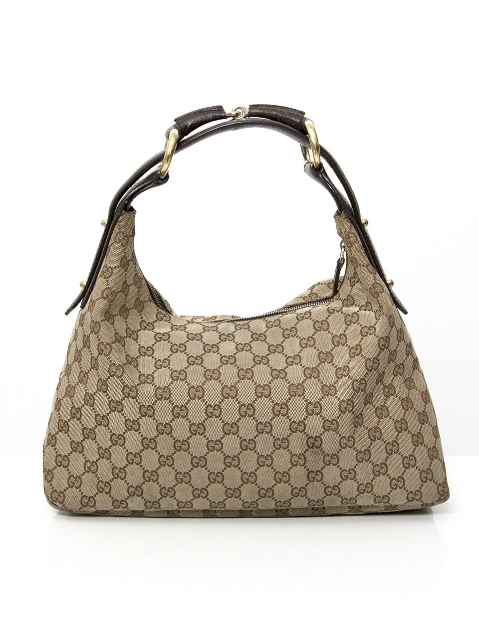 99cc30fc174 Gucci Monogram Hobo Bag