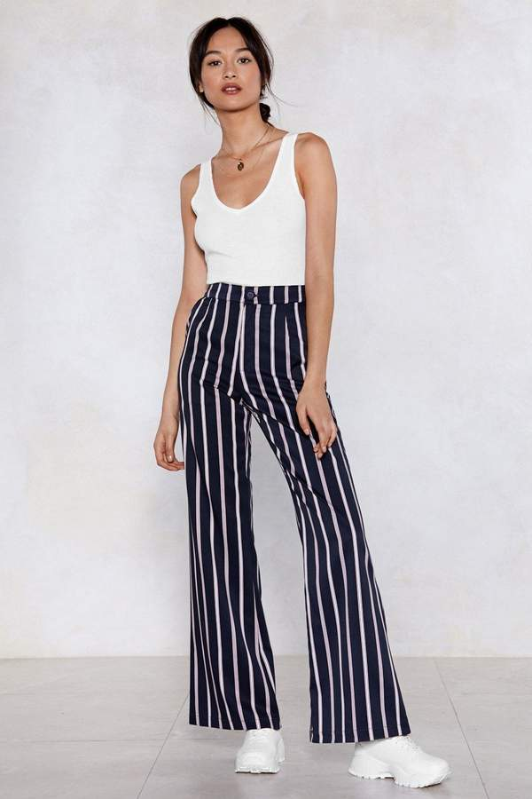 83bf830ea4e3 Get Striped Flare Pants in 2019 | very cute!!!! | Pants, Flare pants ...