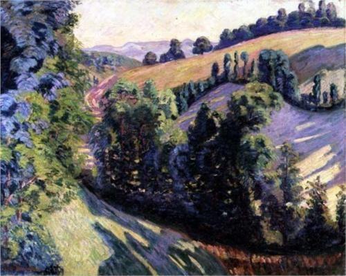 Landscape at Pontgibaud - Armand Guillaumin