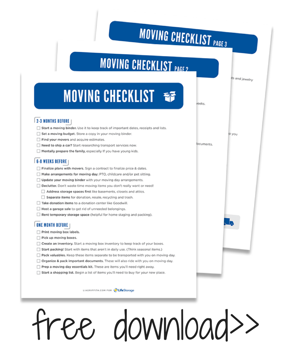 The Ultimate Nursery Decorating Checklist: The Ultimate Moving Checklist + Free Moving Printables Kit