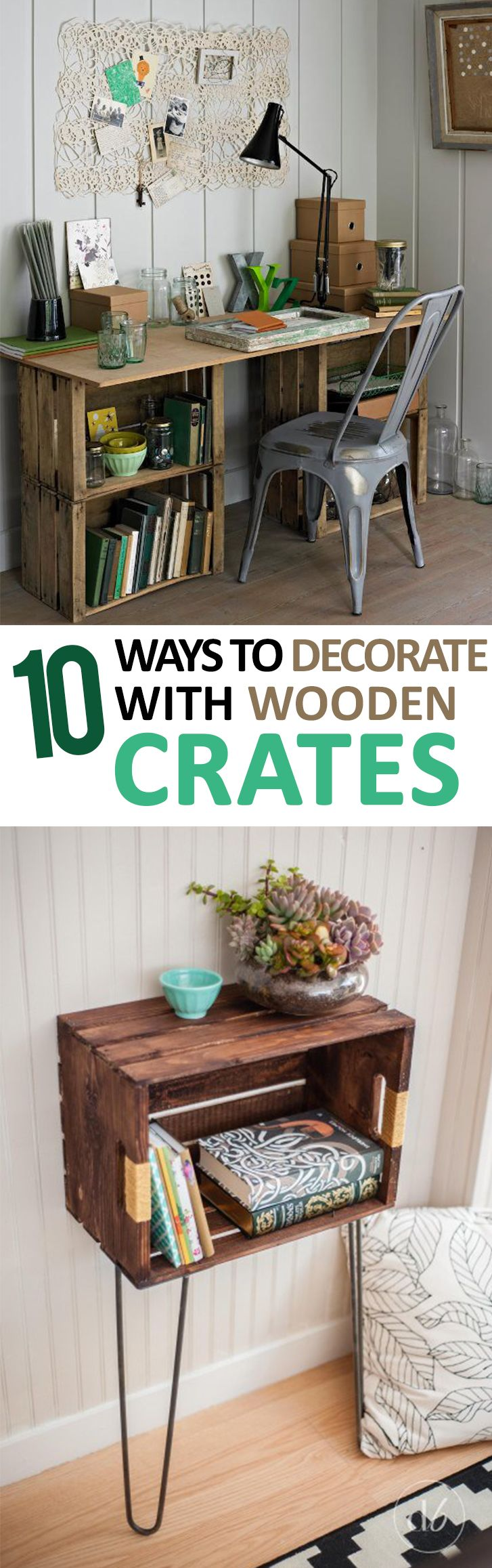 10 ways to decorate with wooden crates 10 Ways to Decorate With Wooden