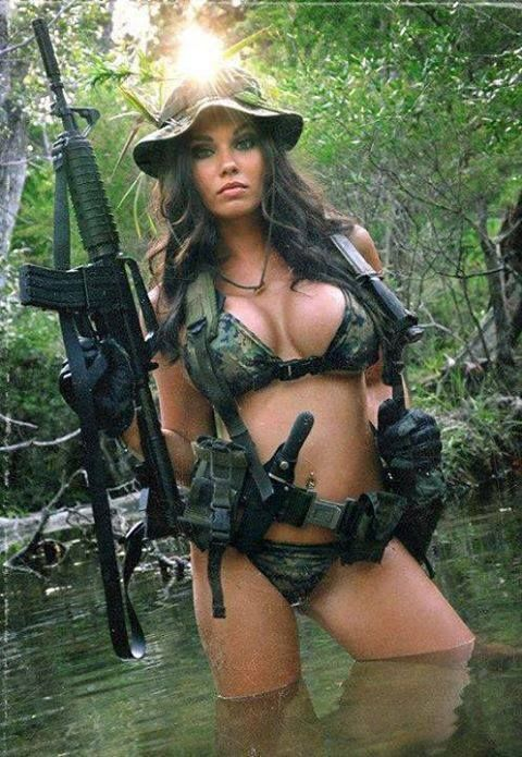Busty military girls