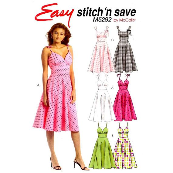 dress pattern Spring summer dress sewing pattern McCalls 5292 Sz 4 ...