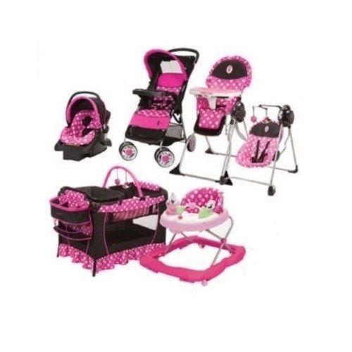 Minnie Mouse Newborn Set Stroller Playard Baby Girl Pink
