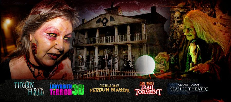 Dallas Texas Best And Scariest Haunted House Verdun Manor Thrillvania Screampark Scary Haunted House Haunted House Best Haunted Houses