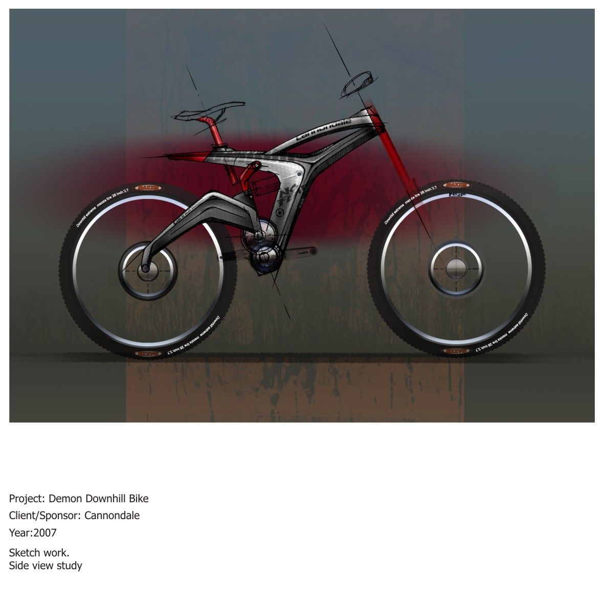 Demon Downhill Bike Sketches 1 Bicycle Design Bicycle Sketch