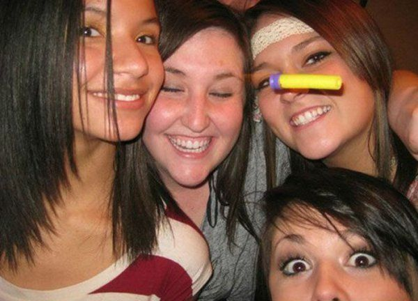 """Perfectly timed photo. """"Girl about to get hit with Nerf dart""""    from collegehumor.com"""