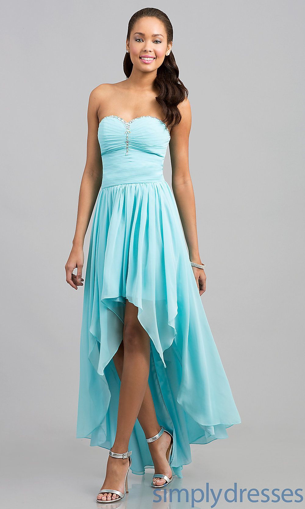 Sweetheart High Low Prom Dress | High low, Prom and Long evening gowns