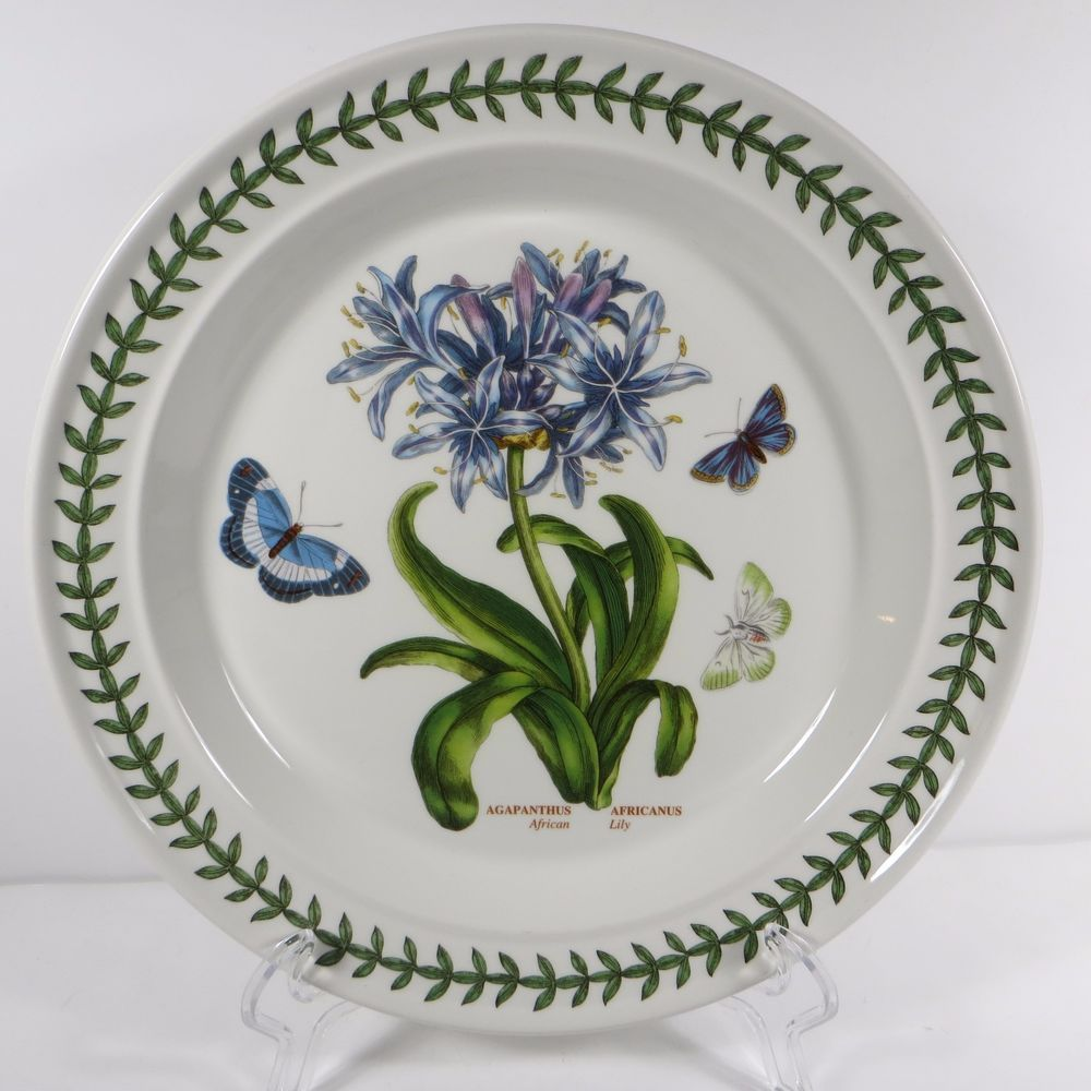 Portmeirion Botanic Garden Dinner Plate African Lily Agapanthus