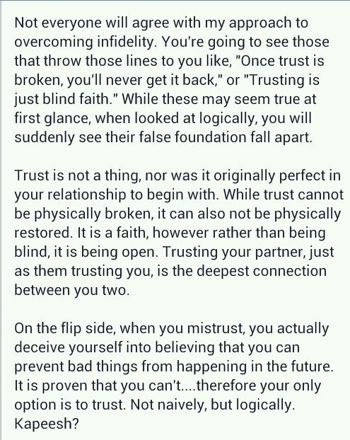 How to rebuild a relationship after trust is broken