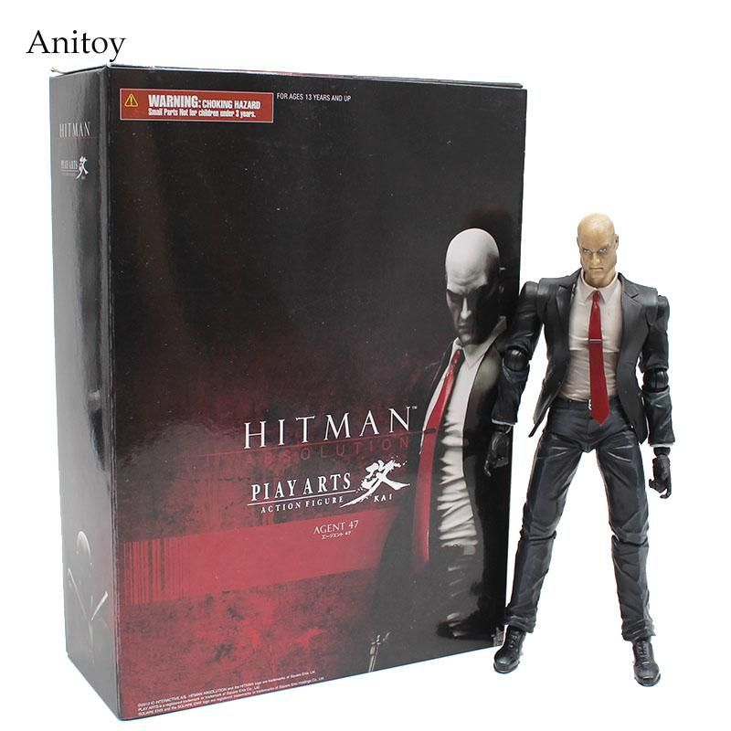 Play Arts Kai Hitman Absolution Agent 47 Pvc Figure Collectible Toy Kt4124 Us 35 86 Toy Collection Disney Figures Hitman