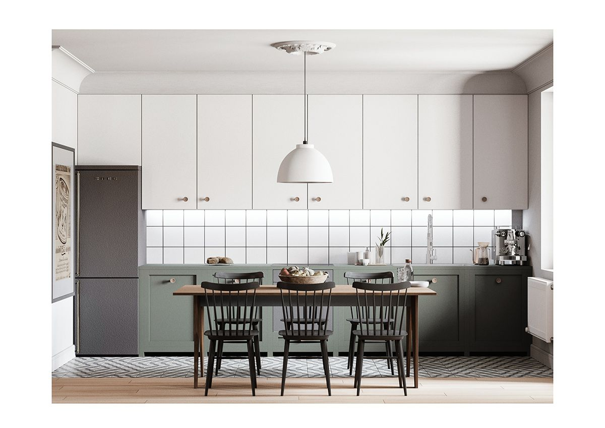 Buddha Apartment On Behance Kitchen Design Kitchen Interior Apartment