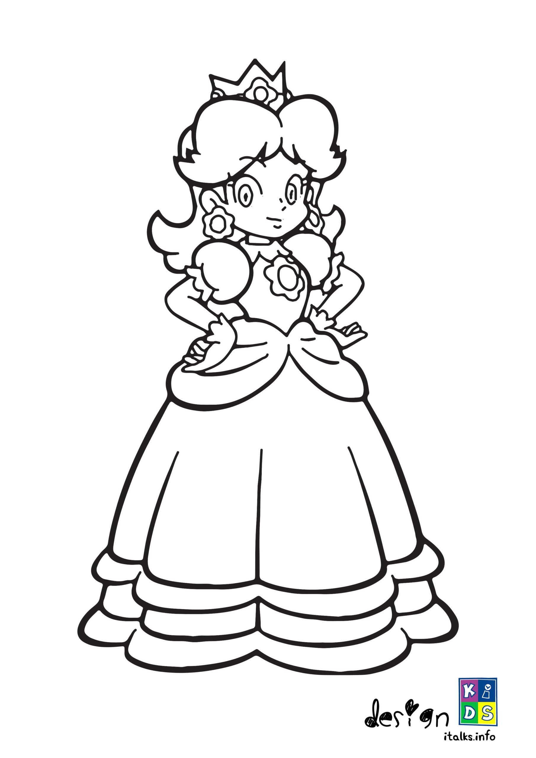 Mario Coloring Pages Daisy - Thekidsworksheet