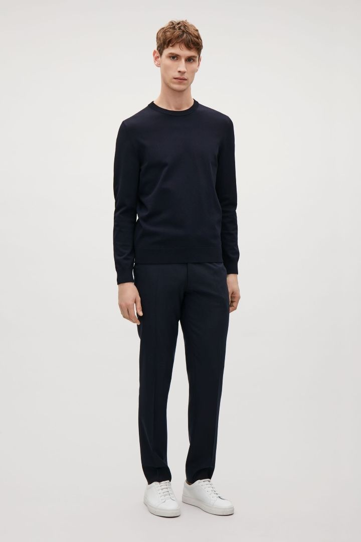 Tailored wool trousers - Navy  - Essentials - COS DE