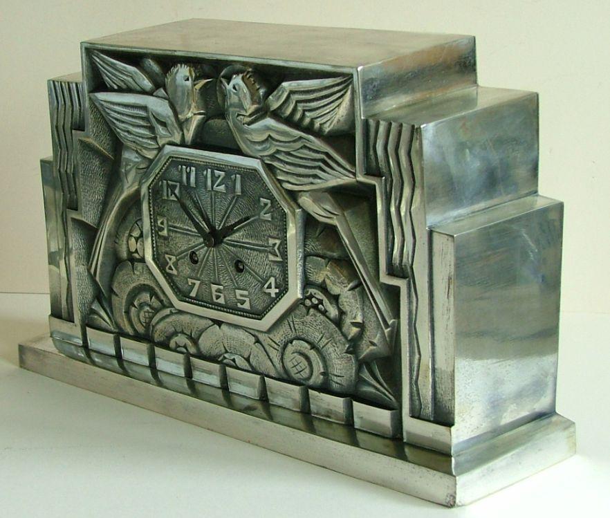 french art deco clock by c terras arts nouveaux et arts deco pinterest art d co art et. Black Bedroom Furniture Sets. Home Design Ideas