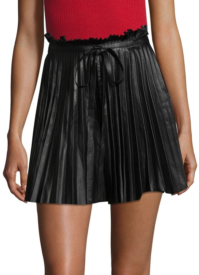 e5b532d39 RED Valentino Women's Pleated Leather Skirt | Products | Leather ...