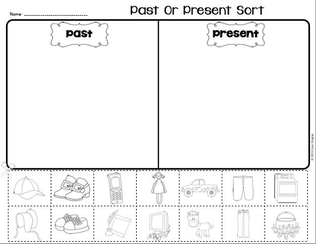 Past And Present Reader And Activity Teaching Posters Activities Sorting Activities
