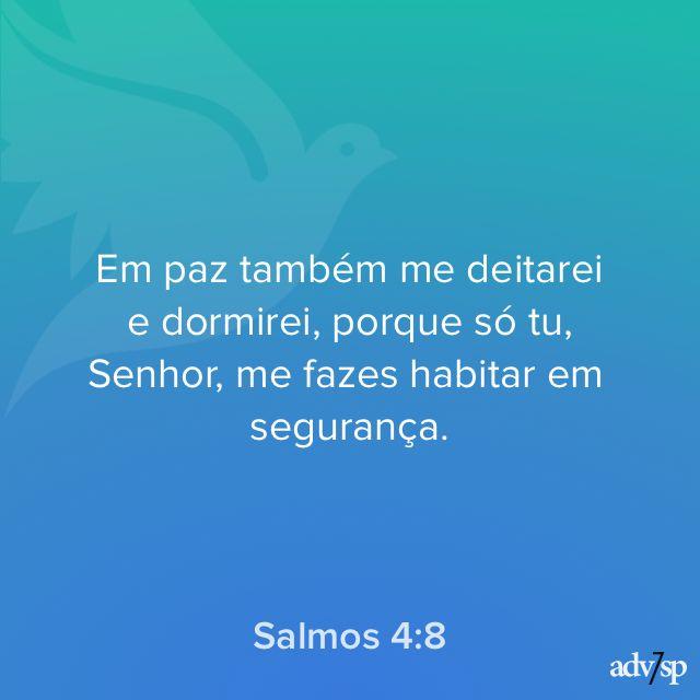 Promessa encontrada em Salmos 4:8  http://bit.ly/promessasApp