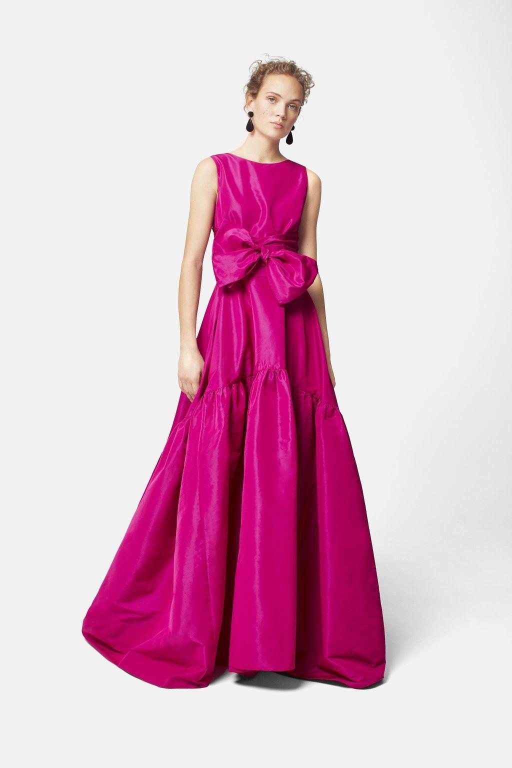 Vestido de tafeta con volumen ROSA FUCSIA | Fucsia, Color rosa y ...