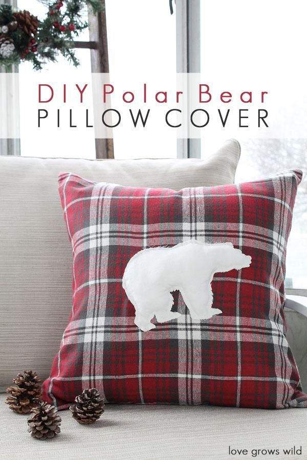 DIY Pillow : DIY Polar Bear Pillow Cover & DIY Pillow : DIY Polar Bear Pillow Cover | Projects to Try ... pillowsntoast.com