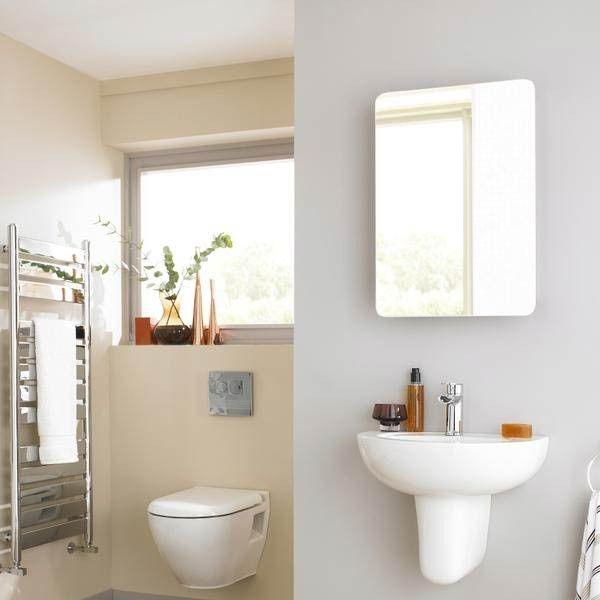 premier image mirrored bathroom cabinet with hinged door bathrooms rh pinterest ca