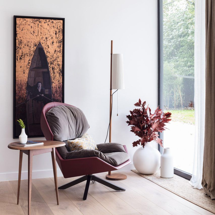 living room color schemes with black furniture%0A Londonbased studio Black  u     Milk has used a neutral colour scheme with rich  textures to overhaul the interior of this threebedroom property in  Hampstead