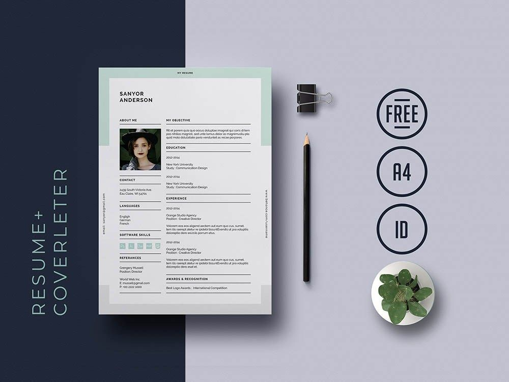 Free Universal Indesign Resume Template with Matching