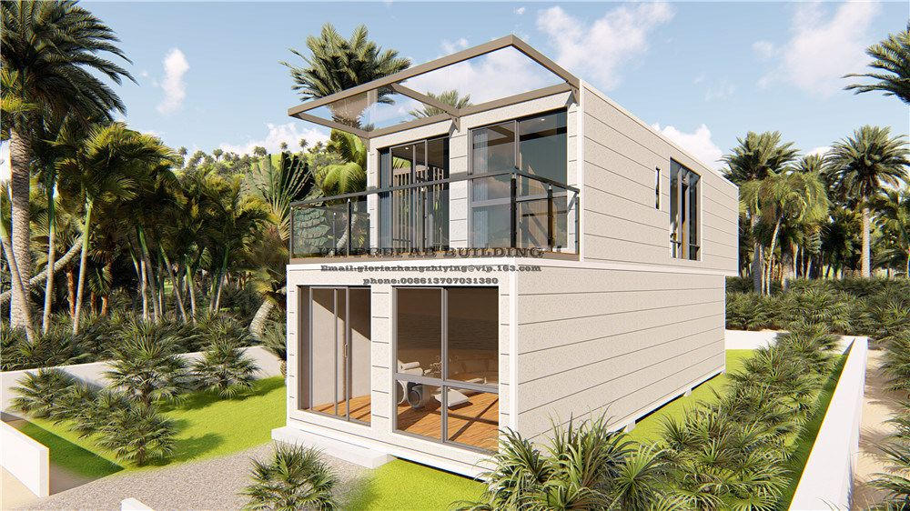 Hot Item 4 Unites 40ft Container House For Family Suites Container House 40ft Container Prefab Buildings