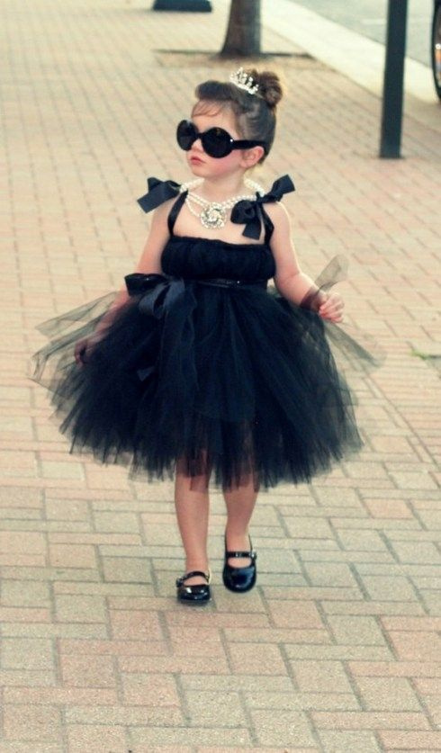 Yes My Daughter Probably Will Look Like A Mini Audrey Hepburn Diy Tutu Dress Girls Dresses Kids Fashion