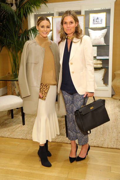 74e0955b243c Olivia Palermo and Aerin Lauder attend The AERIN Collection by Williams  Sonoma Launch Breakfast with Aerin Lauder at Williams Sonoma on April 6  2017.