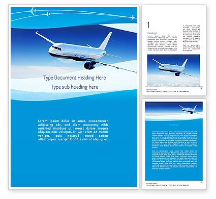 Airplane in the Sky Word Template http://www.poweredtemplate.com ...