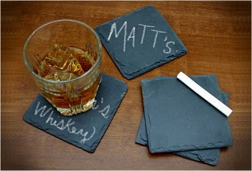 keep track of your drink with slate coasters!