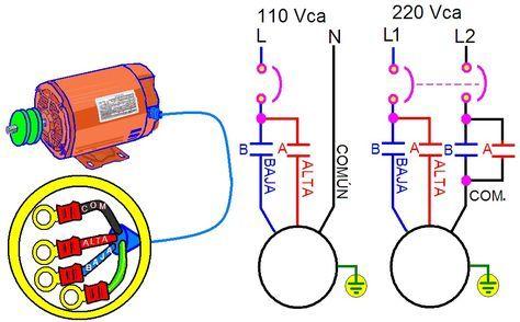 Coparoman Control Para Un Motor Monofasico De Dos Velocidades Imagenes De Electricidad Electricidad Y Electronica Curso De Electricidad Industrial