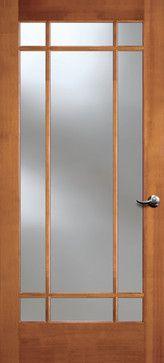 Vertical Grain Douglas Fir Glass French Door 9 Lite Clear Doors Interior Modern Doors Interior Glass Doors Interior