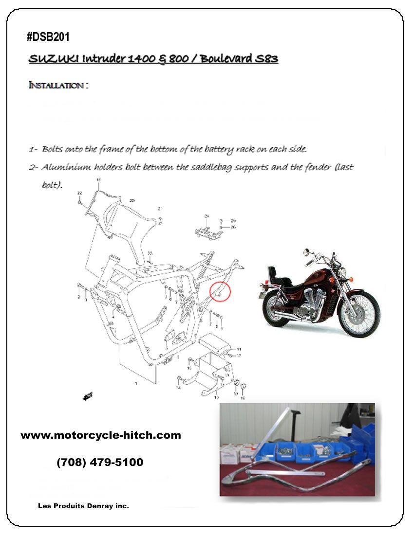 motorcycle trailer hitch for Suzuki Intruder | Motorcycle