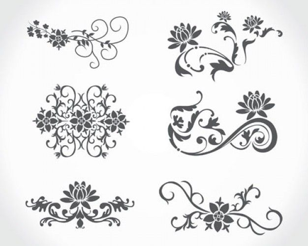 stock vector floral vintage download free vector stock ...