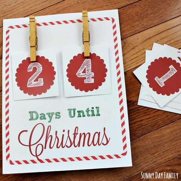 track how many days until christmas with this free christmas countdown printable this diy christmas - How Many Days To Christmas