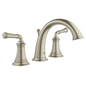 grohe gloucester brushed nickel 2handle widespread watersense bathroom faucet drain included