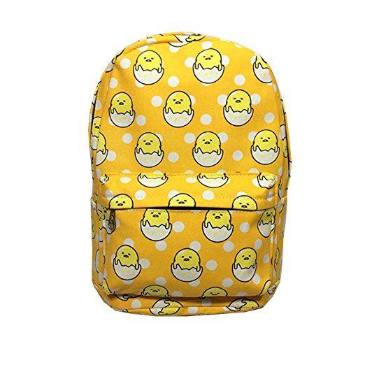 Anime Gudetama Canvas Backpack Cosplay Shoulder School Bag Bags