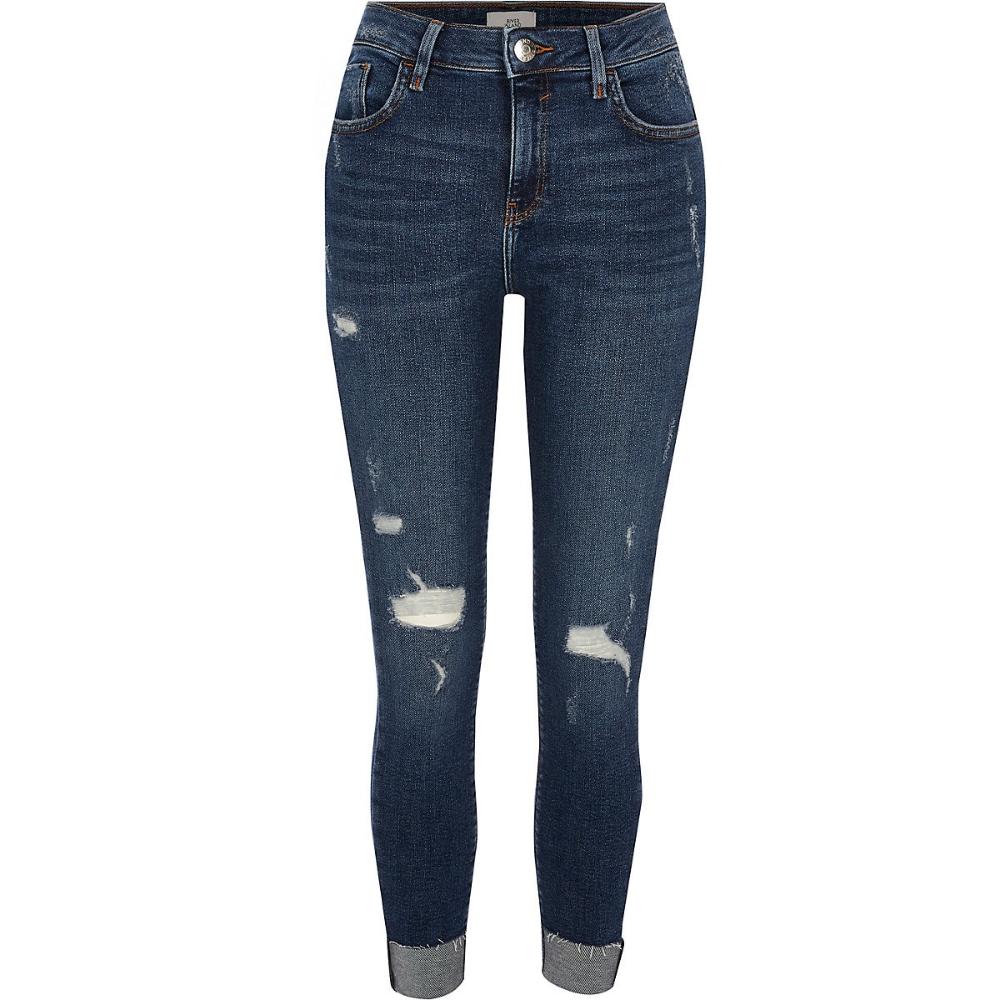 Dark Blue Amelie Super Skinny Rip Jeans Skinny Jeans Jeans Women Women Jeans Ripped Jeans Super Skinny
