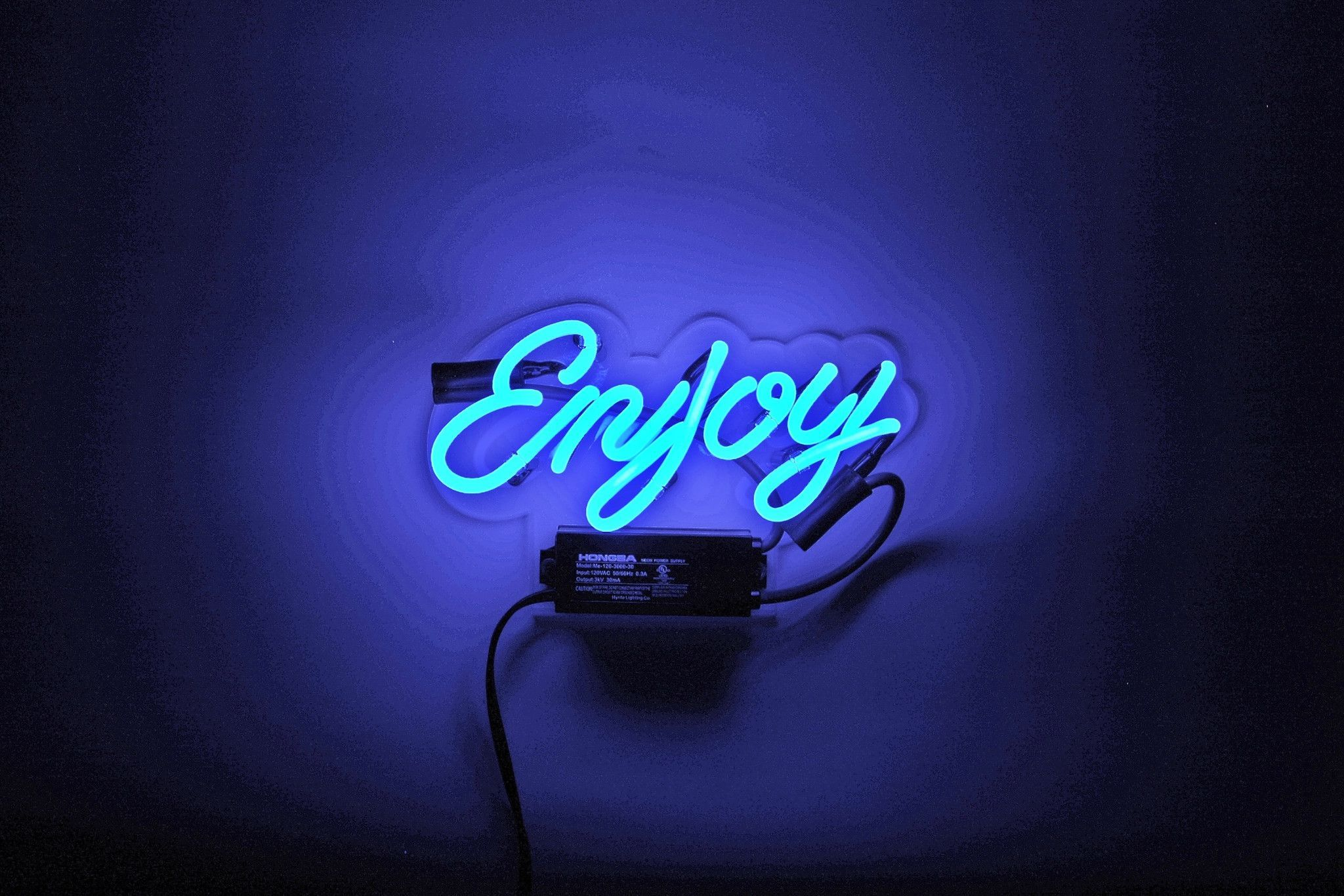 enjoy neon sign edgy neon signs neon signs home neon home decor. Black Bedroom Furniture Sets. Home Design Ideas