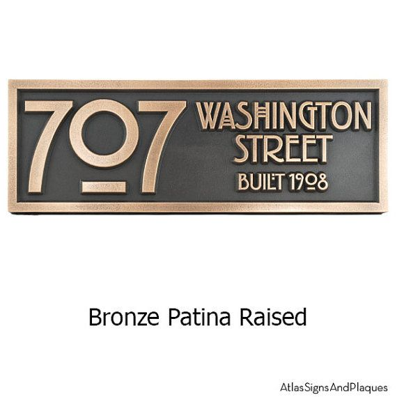 Stickley 2 Number Address Plaque Bungalow Art And Craft